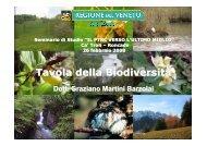 Tavola della Biodiversità - PTRC Piano Territoriale Regionale di ...