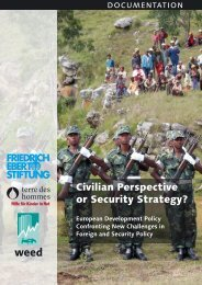 Civilian Perspective or Security Strategy? - Weed