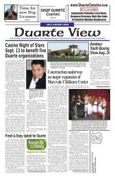 A bi-monthly community publication of the Duarte - Chamber ...