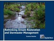 Rethinking Stream Restoration and Stormwater Management
