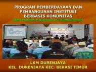 program pemberdayaan dan pembangunan institusi ... - P2KP