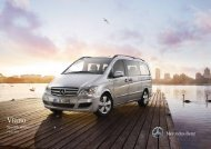 Mercedes-Benz Viano Equipment and Specifications
