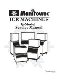 ICE MACHINES Q-Model Service Manual
