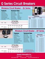 Mini Circuit Breaker - Genesis Automation