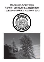 Programm 2011 - Sektion Bergbund Rosenheim