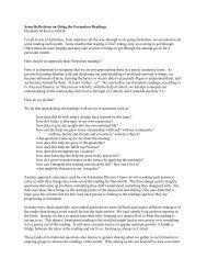 Some Reflections on Doing the Formation Readings - Secular ...