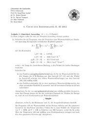 6. ¨Ubung zur Bioinformatik II, SS 2012 - Universität des Saarlandes