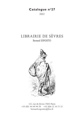 LIBRAIRIE DE SÈVRES - Livre Rare Book