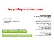 Les politiques climatiques - Patrick MONASSIER