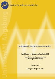 How Different are Wages from Wage Potentials? Analyzing the ...