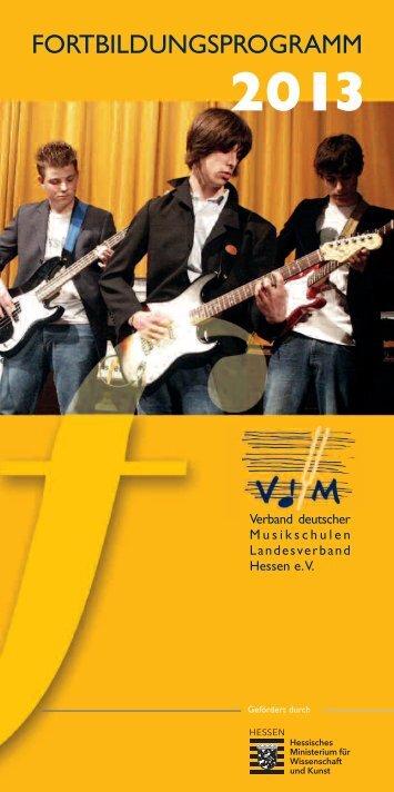 Fortbildungsprogramm 2013 - VdM-Hessen
