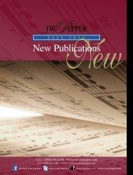 New Publications - JW Pepper