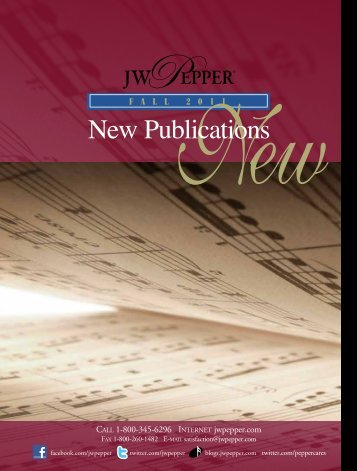 New Publications - JW Pepper