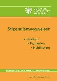 Studium • Promotion • Habilitation - Gleichstellungsbüro - Bergische ...