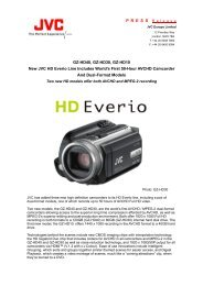 GZ-HD40, GZ-HD30, GZ-HD10 New JVC HD Everio Line Includes ...