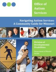 Navigating Autism Services - Missouri Department of Mental Health