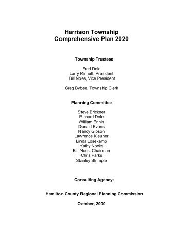 harrison township comprehensive plan - Hamilton County, Ohio