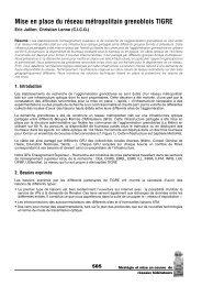 Mise en place du réseau métropolitain grenoblois TIGRE