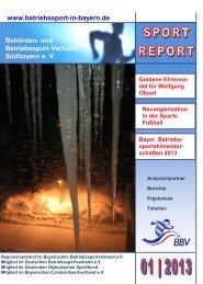 Sport-Report 1 / 2013 - sportundkulturverein.de