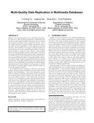 Multi-Quality Data Replication in Multimedia Databases - CiteSeerX