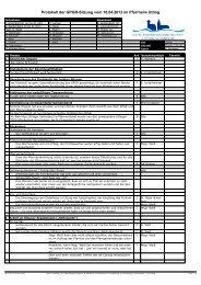 Protokoll der GPGR-Sitzung vom 18.04.2013 im Pfarrheim Utting