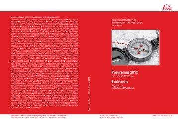 Programm 2012 - Betriebsräte Fortbildung