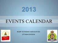 EVENTS CALENDAR - RCMP-GRC Vets Ottawa