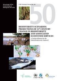 BIODIVERSITY SCENARIOS - Convention on Biological Diversity