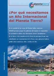 ¿Por qué necesitamos un Año Internacional del Planeta Tierra?