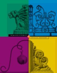 BARNES & NOBLE ANNUAL REPORT - Barnes & Noble, Inc.