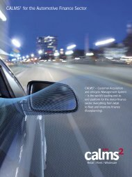 CALMS2 for the Automotive Finance Sector - White Clarke Group
