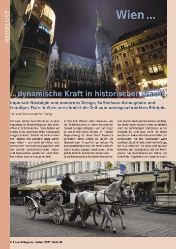 Wien ... - Birseck Magazin