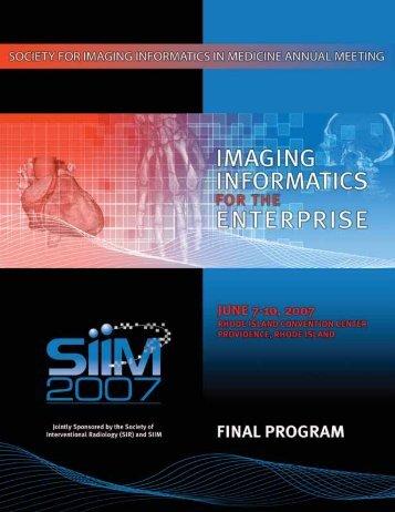 Final Program (PDF) - SIIM 2007