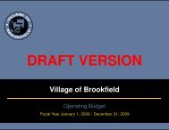 Draft Budget - Village of Brookfield