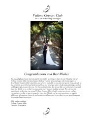 Congratulations and Best Wishes Vellano Country Club - Cybergolf