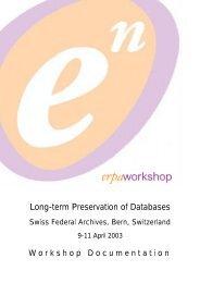 WS Bern Documentation - ERPANET