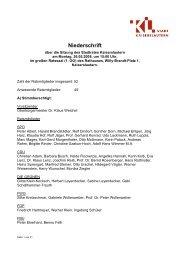 Niederschrift - Stadt Kaiserslautern