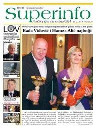 Rada Vidović i Hamza Alić najbolji - Superinfo