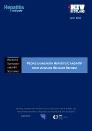 People living with Hepatitis C and HIV their views on ... - HIV Scotland