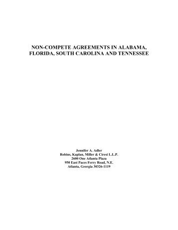 Non-Compete Agreements - Robins, Kaplan, Miller & Ciresi LLP