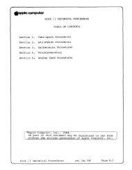 Apple Disk II Technical Procedures