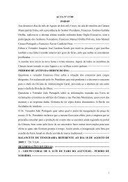1 ACTA Nº 17/09 19-08-09 Aos dezanove dias do mês de Agosto de ...