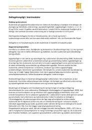 eltagelsespligt i teorimoduler - University College Lillebælt