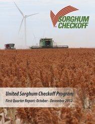 1st Quarter - Sorghum Checkoff