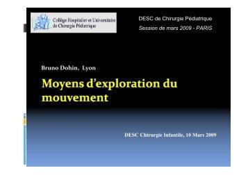 Moyens d'exploration du mouvement - SOFOP
