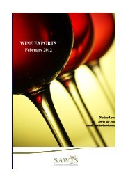 WINE EXPORTS - Wines of South Africa