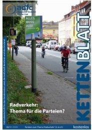 Radverkehr: Thema für die Parteien?