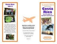 Costa Rica - Campbell University