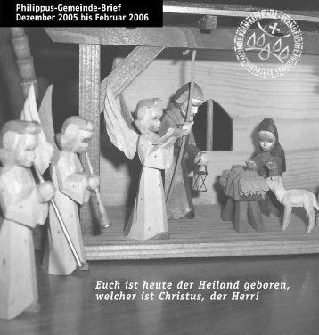 Euch ist heute der Heiland geboren - Evangelische Philippus ...