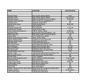 10-61 Locations for Palm Beach COP 6-1-2012